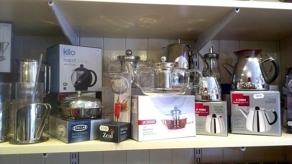 A range of kettles that we sell in our store.