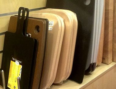 A selection of cutting boards that are sold in our store.