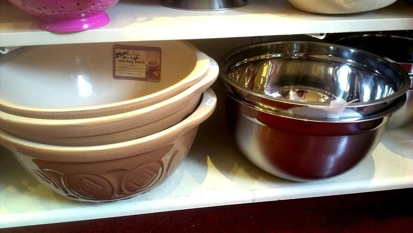 A range of cooking bowls sold in our store.